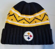 Pittsburgh Steelers Knit Beanie Winter Hat Toque Skull Cap NEW Thick Knit Cuffed
