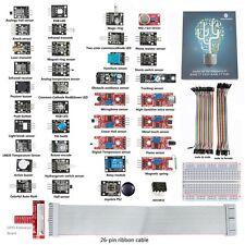 SunFounder 37 modules Sensor Kit for Raspberry Pi, GPIO Extension Board Jump For