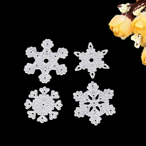 4pc Snowflake Cutting Dies Embossing Stencil Moulds Card Making Scrapbooking DIY