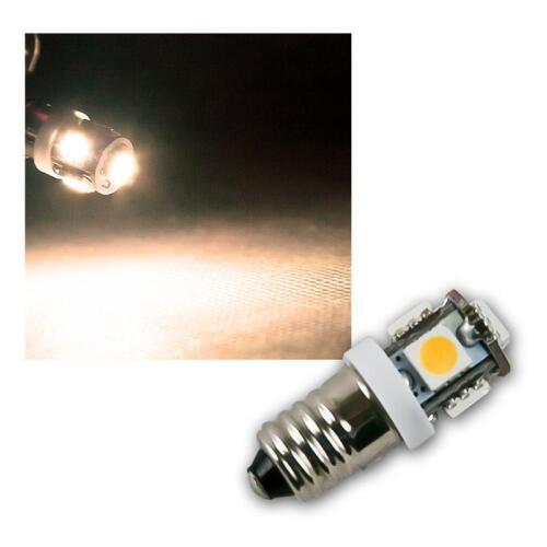 poire lampe ampoule chaud 12v 5x 5050 smd 10 x ampoules Led e10 blanc chaud