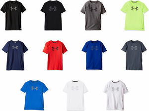 5d2d0f20b0 Details about Under Armour Boys' HeatGear Armour Short Sleeve Fitted Shirt,  11 Colors