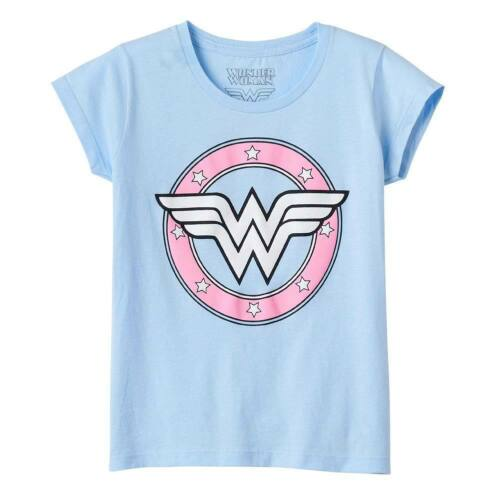 Wonder Woman Youth Girl/'s Light Tee Shirt Blue