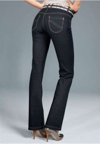 36 Nuovo Donna Pantaloni Stretch Dark rinsed l30 BLU Arizona Bootcut Jeans k-gr.18
