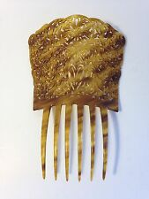 """Vintage Spanish Mantilla Hair Comb-Large 8"""" tall 5.5 """" wide-Faux Tortoise Shell"""