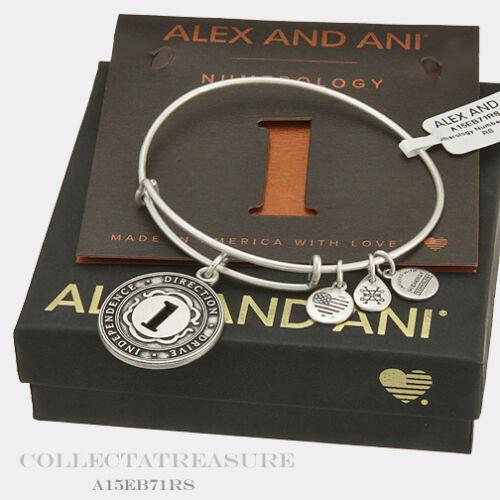 Authentic Alex and Ani la numérologie numéro 1 RAFAELIAN Silver Charm Bracelet