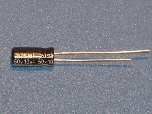 Ø5x11mm 10uF radial Elko - Aishi // 50V // 105°C 10µF 20 Stk.