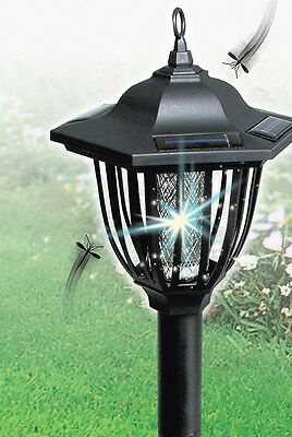 2 in 1 Solar Insect Light Zapper Accent Light Kill Bugs Stake LED Mosquito NEW