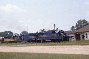 TO-amp-E-TEXAS-OKLAHOMA-amp-EASTERN-Railroad-Locomotive-Valliant-OK-1987-Photo-Slide