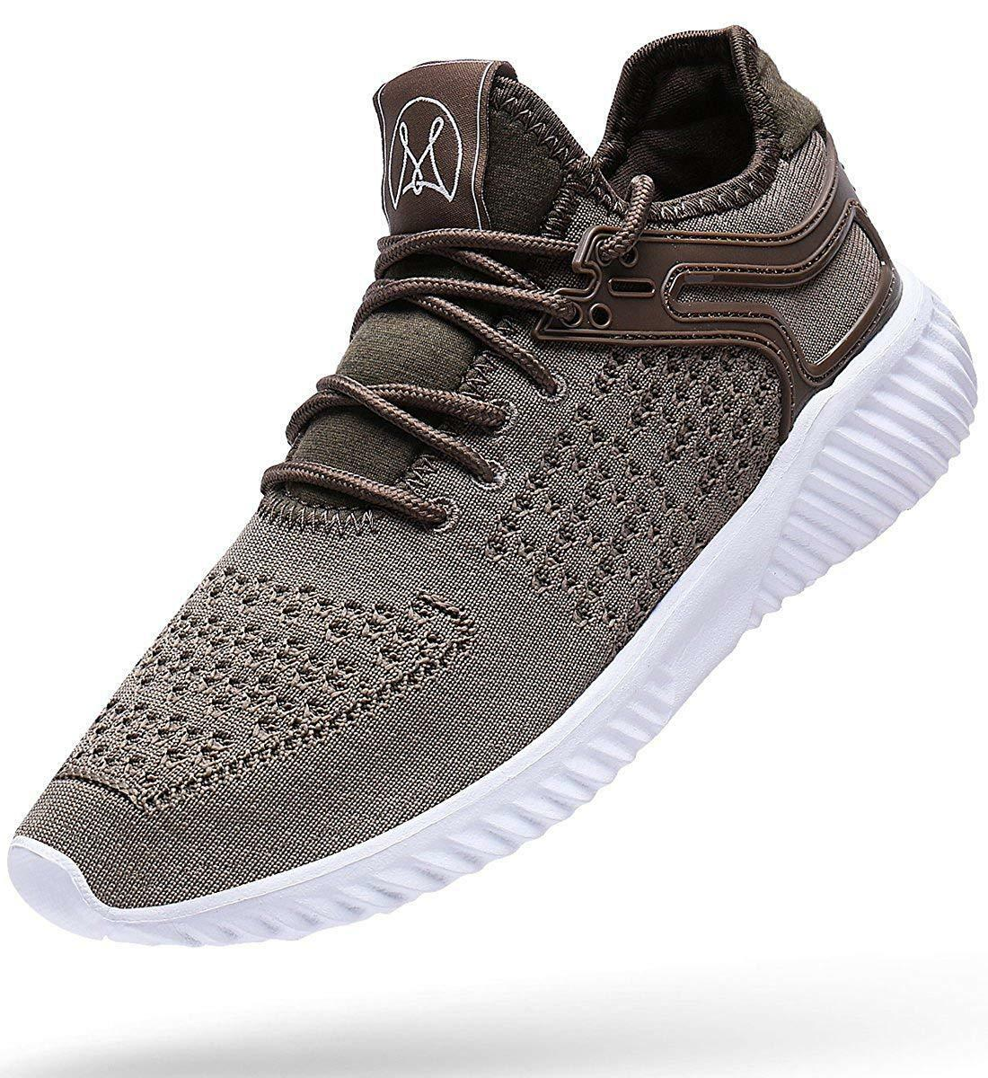 Wonesion Mens Walking shoes Mesh Lightweight Breathable Sneakers Sport Fitness