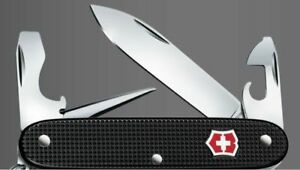Victorinox-Pioneer-Black-Alox-with-Red-Shield-Swiss-Army-Knife-rar-collector