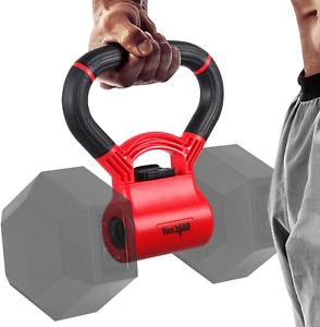 Kettle Grip Handle for Dumbbells Kettlebell Fitness Workout Equipment Red/Black