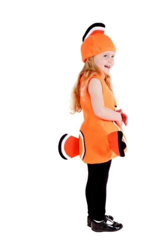 Toddlers Poisson Clown Costume Garçons Filles Unisexe Mignon mer robe fantaisie animaux Nemo