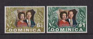 Dominica - 1972, Royal Silver Wedding set - MNH - SG 366/7