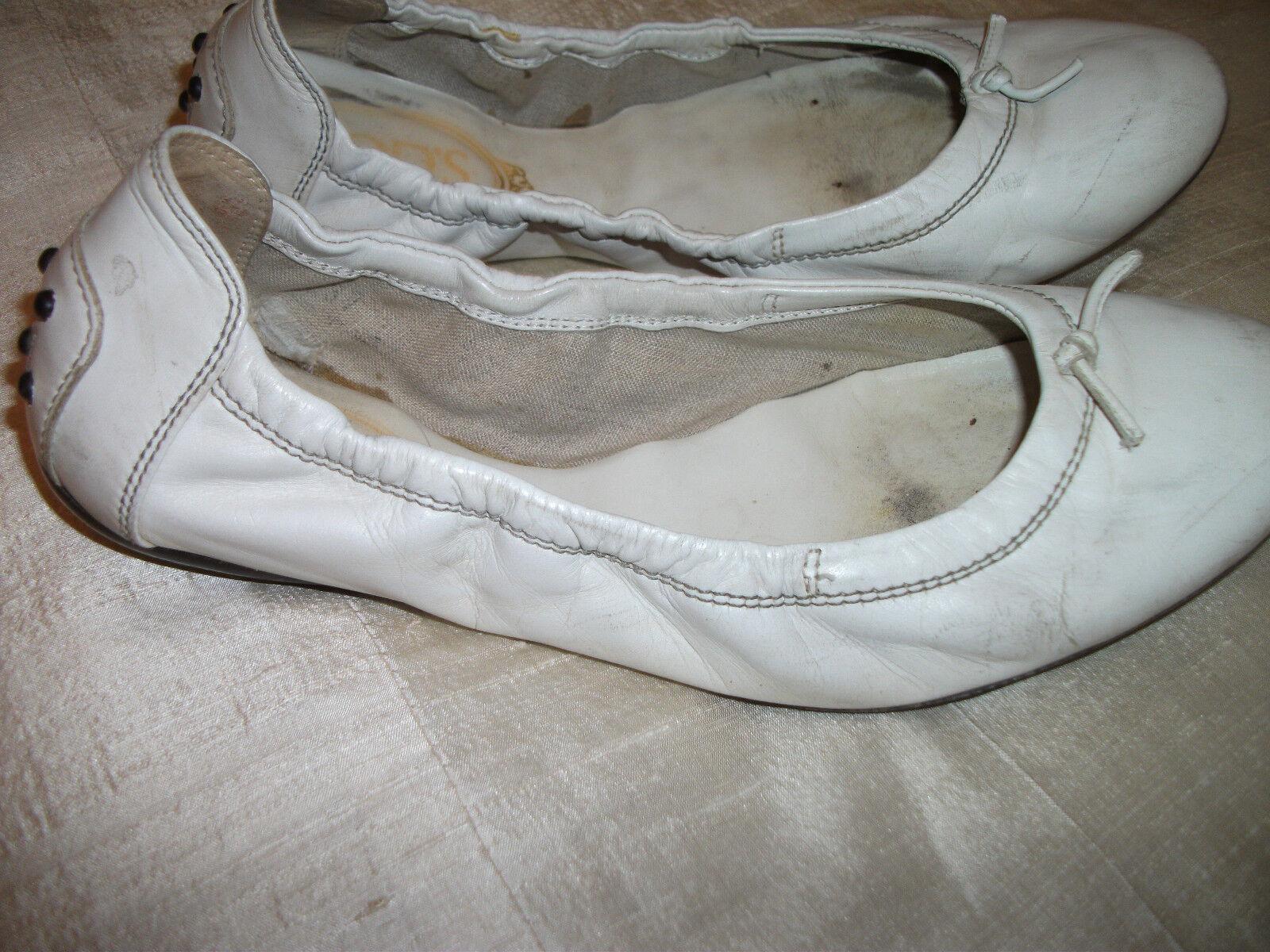 Orig. TOD`S - hochwertige, exklusive,weiße,bequeme-Ballerinas Gr. 37