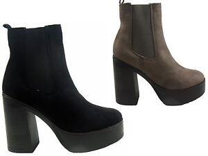 NEW-LADIES-CHELSEA-ANKLE-ELASTICATED-CHUNKY-PLATFORM-HIGH-HEEL-SHOE-BOOT