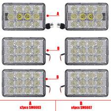 Agricultural Led Tractor Light Kit 6pcs 6x4 Led Headlights Spotfloodcombo Beam
