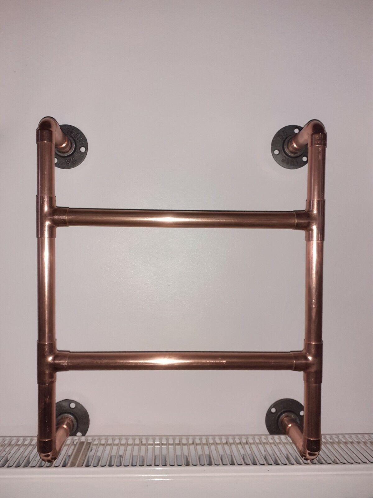 Copper pipe towel rail