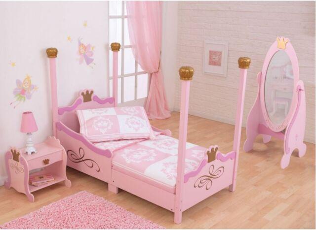 Toddler Bed Frame Beds For Girls Princess Bedroom Furniture Kids ...