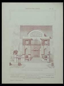 Montreuil, Bains Douches -1925- Planches Architecture-bergerie Cindre, Nanquette Ferme En Structure