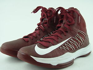 new concept 7b8ce 4fc50 Image is loading Nike-HYPERDUNK-Maroon-Lightweight-High-Top-Athletic-Shoes-