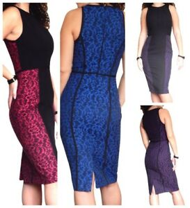 Ladies-Black-Work-Dress-Size-8-10-12-14-16-18