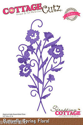 COTTAGE CUTZ ELITES Cutting die BUTTERFLY SPRING FLORAL CCE-010 REDUCED