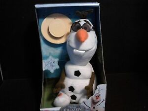 Disney Store Authentic Frozen Singing Olaf Big Plush Toy Doll