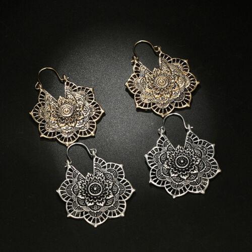 Elegant Ladies Flower Drop Dangle Tribal Hollow Earring For Ladies Female one