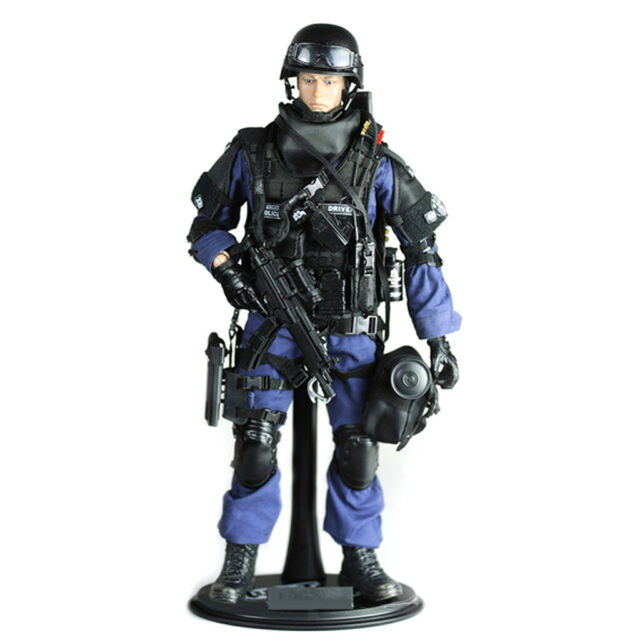 Hasbro GI Joe SWAT POLICE BLACK ELBOW PADS 1//6 Scale LOOSE Rare Accessory