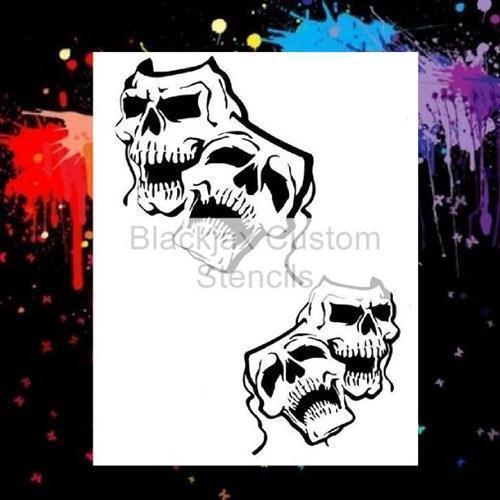 Skull Masks Set Airbrush Stencil Template