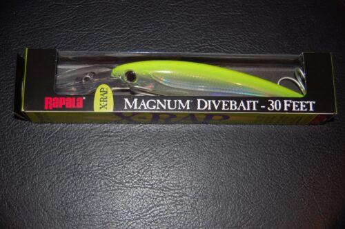"Rapala X-Rap Magnum XRMAG30-SFC Silver Flourescent Chartreuse 160mm 6 1//4/"" Lure"