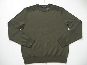 37b669119fa POLO RALPH LAUREN Men s Olive Rib-Knit Shoulders Merino Wool Sweater ...