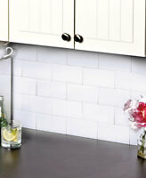Subway Tile Backsplash 3x6 Set Of 25 Kitchen Bathroom Tiles Easy Clean 3 Colors