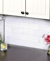 Subway Tile Backsplash 3x6 Set Of 25 Kitchen Bathroom Tiles Easy Clean 3 Colors