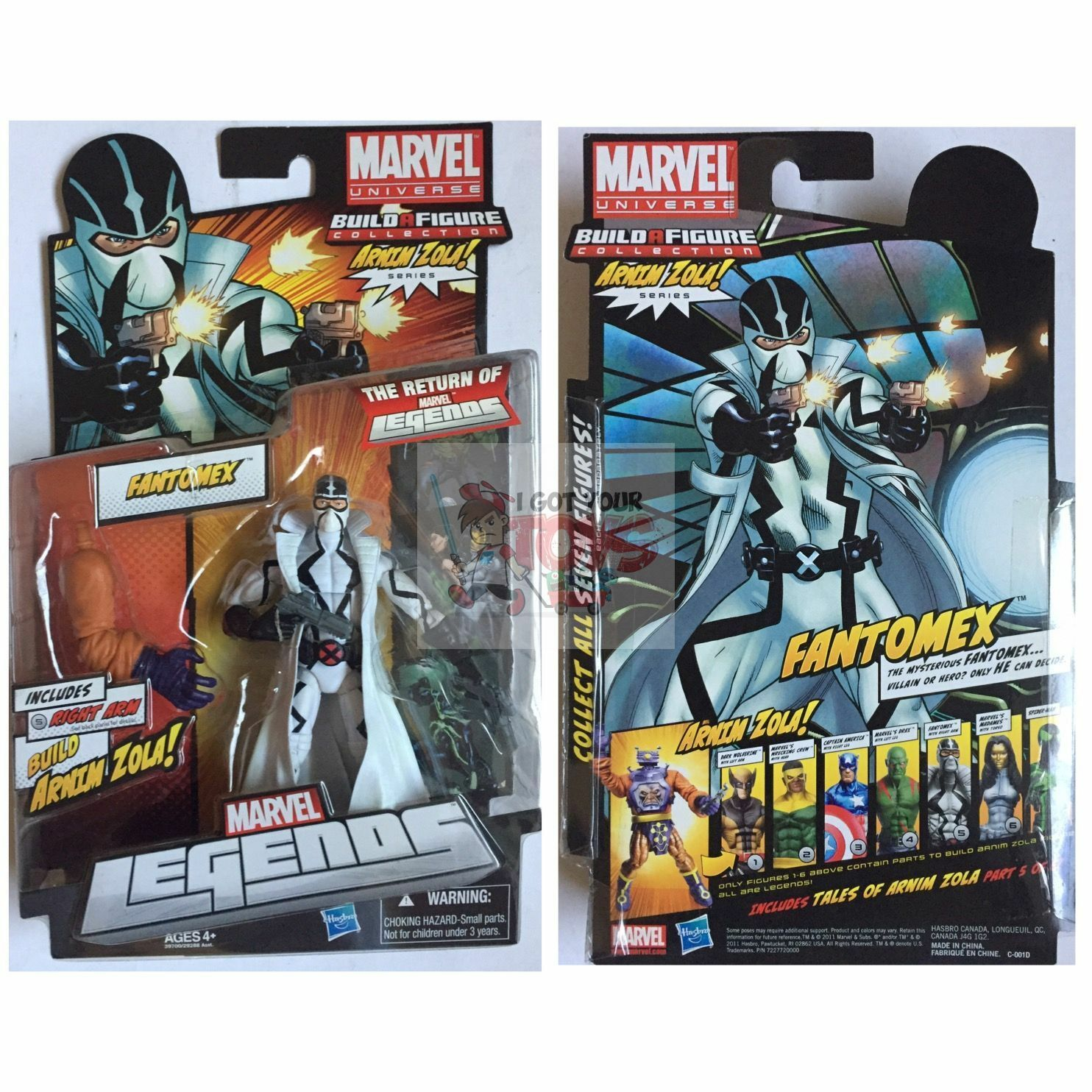 FANTOMEX + ARNIN ZOLA PIECE Marvel Legends HASBRO 2011 6