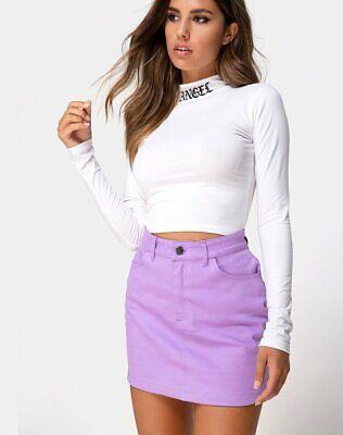 MOTEL ROCKS Mini Broomy Skirt in Dalmatian mr8