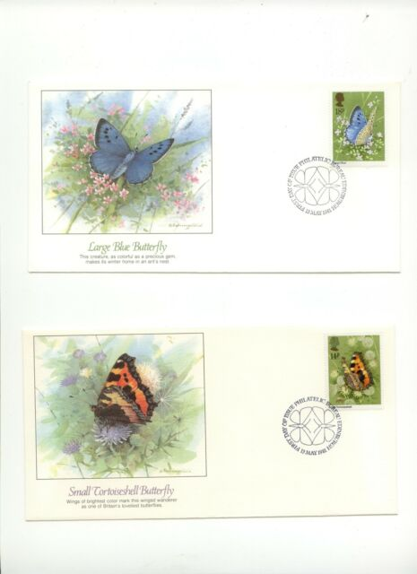 Great Britain FDC Fleetwood Butterflies Insects Moths  1981 D040
