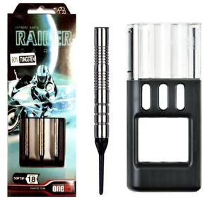 ONE80 SOFT TIP DART - RAIDER - HD  TUNGSTEN With Solibox (18g)