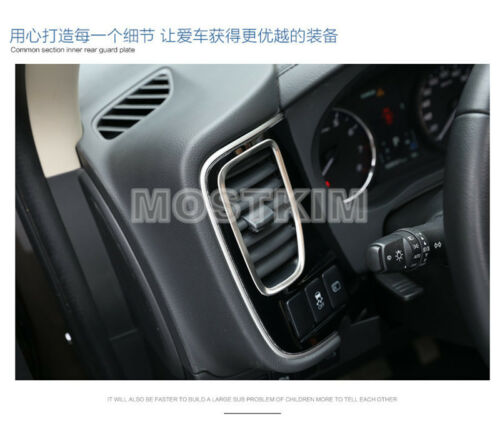 Interior Dashboard Air Vent Outlet Cover Trim For Mitsubishi Outlander 2013-2018