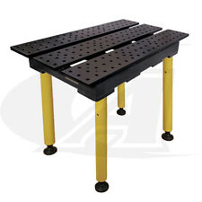 "BuildPro™ 2' (0.56m) x 3' Welding Table: 36"" of Height with Nitride Finish"