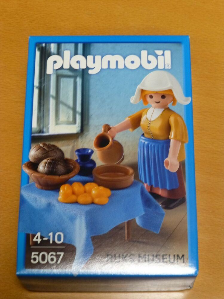 Playmobil-special 5067 Nana Vermeer Spécial Personnage Neuf Dans Sa Boîte/neuf-ial 5067 Milchmagd Vermeer Sonderfigur Ovp/neu Fr-frafficher Le Titre D'origine