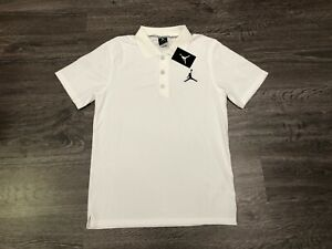 52118019d24 Nike Air Jordan Jumpman Team Dri-Fit Golf Polo Shirt White Mens S ...