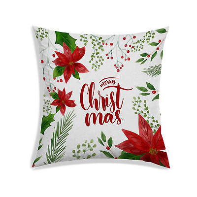 Surprising Christmas 3D Cushion Cover Satin Living Room Sofa Couch Pillow Cover Off White Ebay Machost Co Dining Chair Design Ideas Machostcouk
