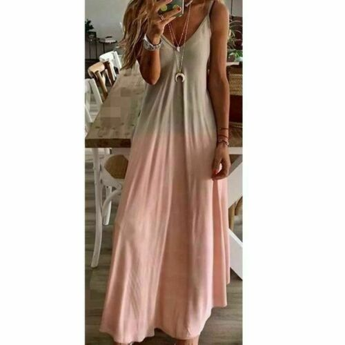 Fashion Party sundress Loose beach summer Floral V Neck Women Dress Long Sleeve