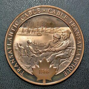 1866 Transatlantic Cable: 1972 History of Canada Proof Bronze Medal