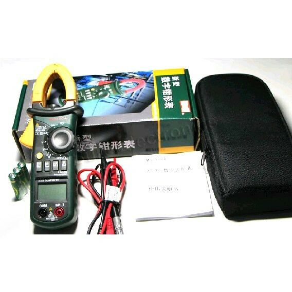 MS2108A 4000 AC DC Current Clamp Meter backlight Frq Cap CATIII Free Case