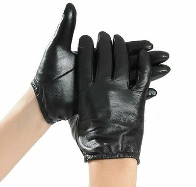 New Men's 100% Genuine Leather Driving Gloves / Police Tactical Gloves