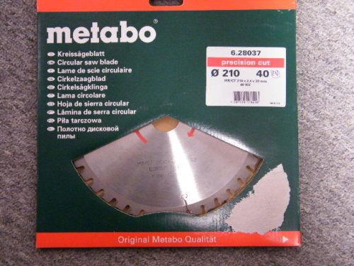 Metabo Sägeblätt Hartmetall 210 x 30 Zahnteilung 40