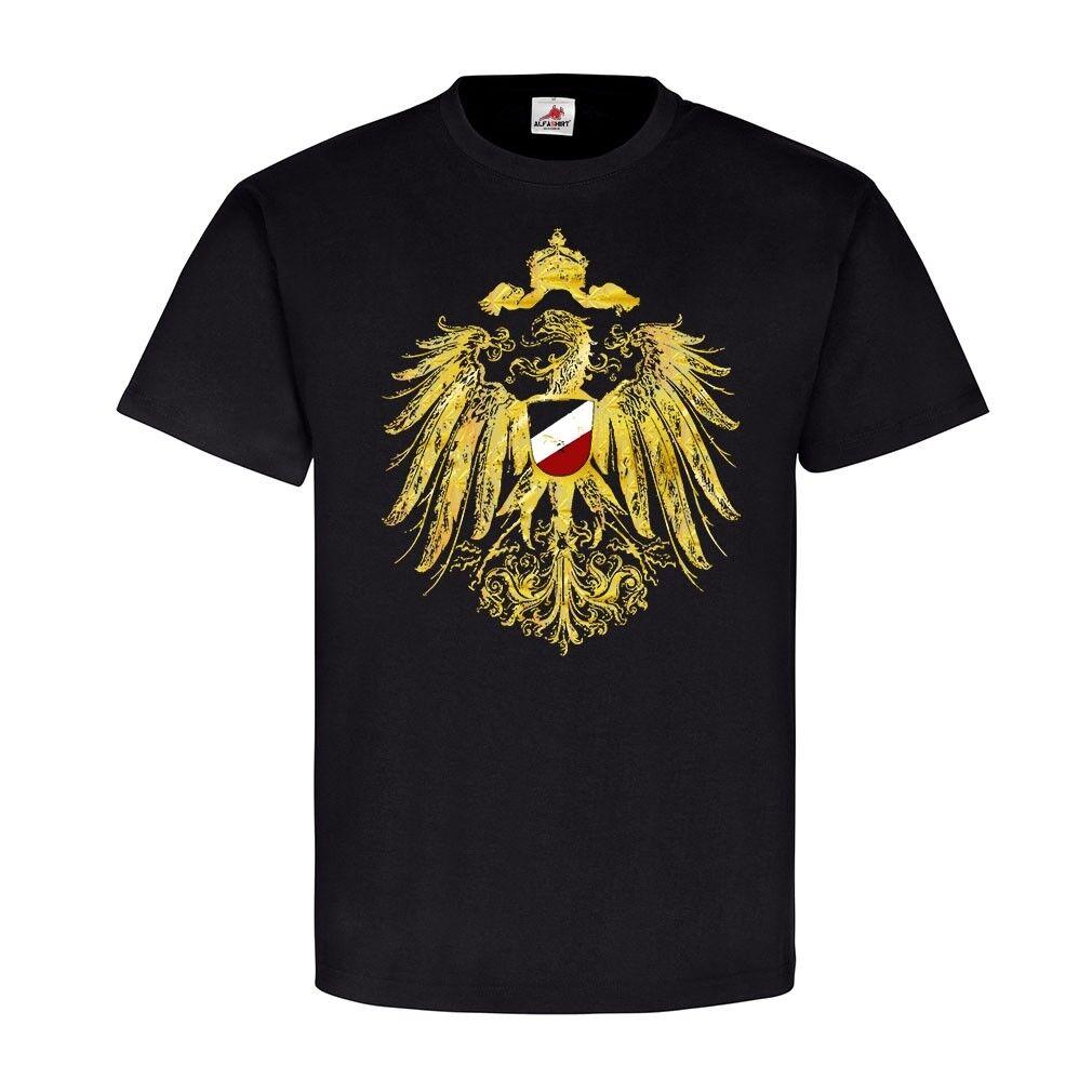 Wappen Adler Deutschland schwrz weis red Reichsadler Hemd T-Shirt