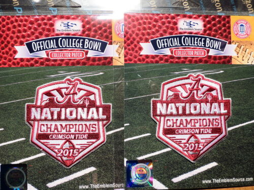 2 Two NCAA College Football Alabama Crimson Tide 2015 National Champions Patch